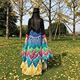 VESNIBA Soft Fabric Butterfly Wings Shawl Fairy Ladies Nymph Pixie Costume Accessory (197125CM, Yellow -1)