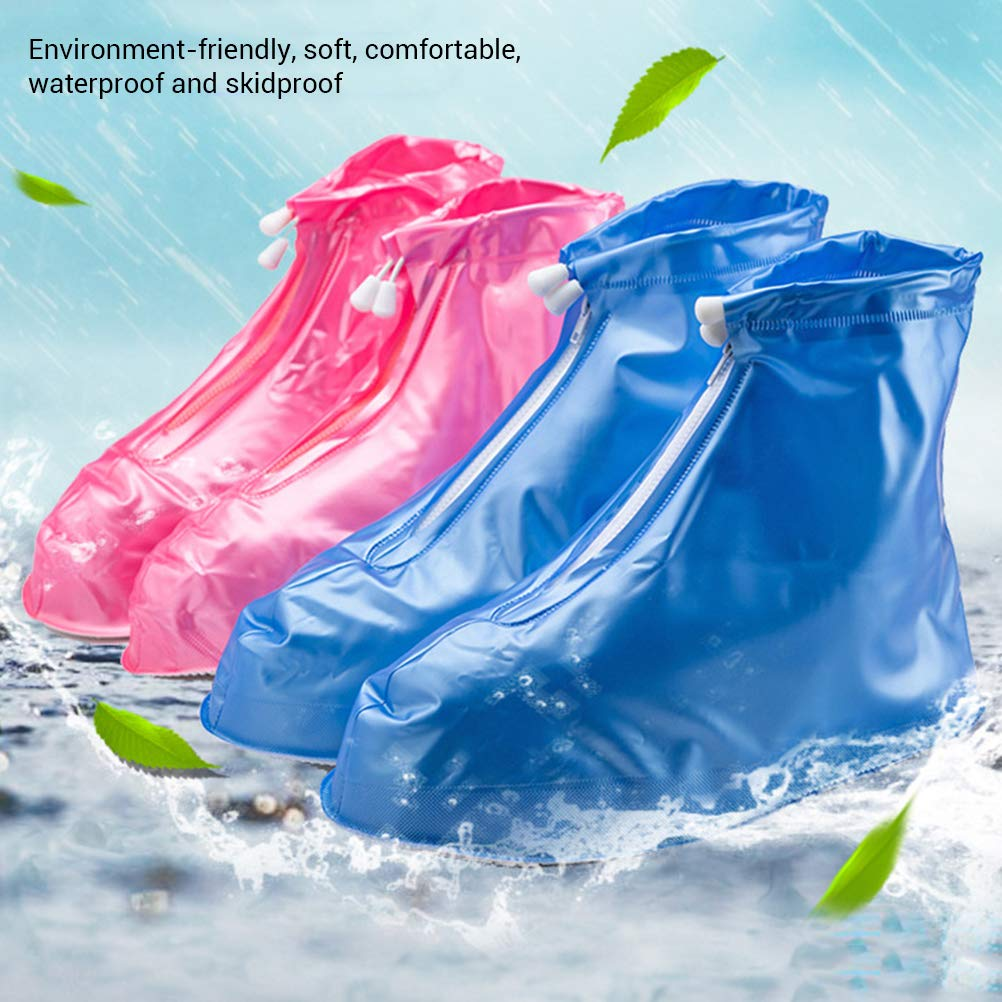 Phayee Stivali in PVC Impermeabili Copriscarpe Copriscarpe Pieghevoli Antiscivolo Pieghevoli da Pioggia per Uomo e Donna