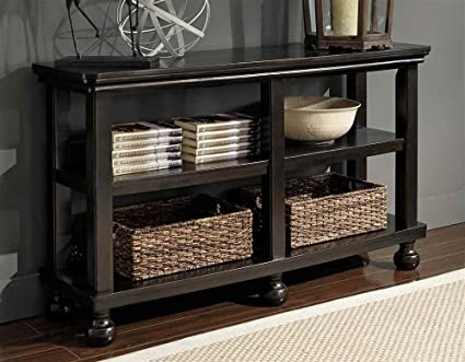Tellbane Coffee Table.Amazon Com Signature Design By Ashley Tellbane Black Sofa Table