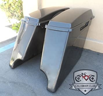ABS Extended Stretched SaddleBags 4quot Extension Saddle Bags For 1993 2013 Harley Davidson