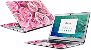 """Mightyskins Skin Compatible with Acer Chromebook 15"""" (2018) - Pink Roses 