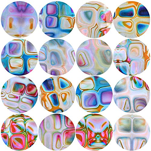TreeMart 16 Pcs/Set 3D Holographic Nail Water Transfer Stickers Gradient Marble DIY Nail Foils Tips Manicure Tool Nail Christmas Decorat -