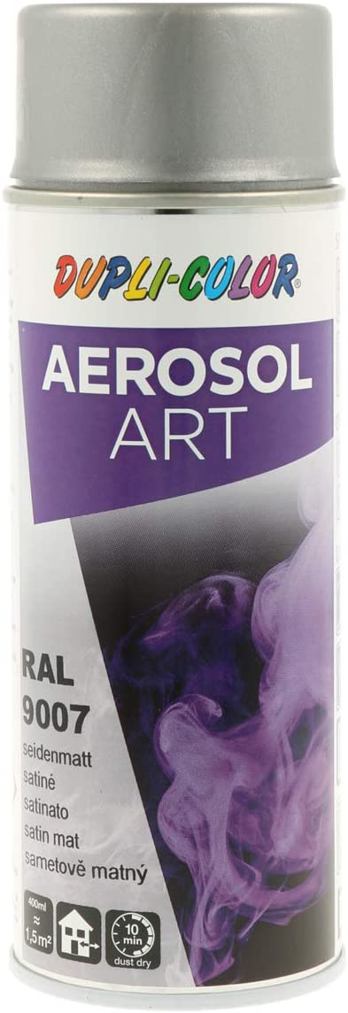 Dupli Color 741432 Aerosol Art Ral 9007 Seidenmatt 400 Ml Baumarkt
