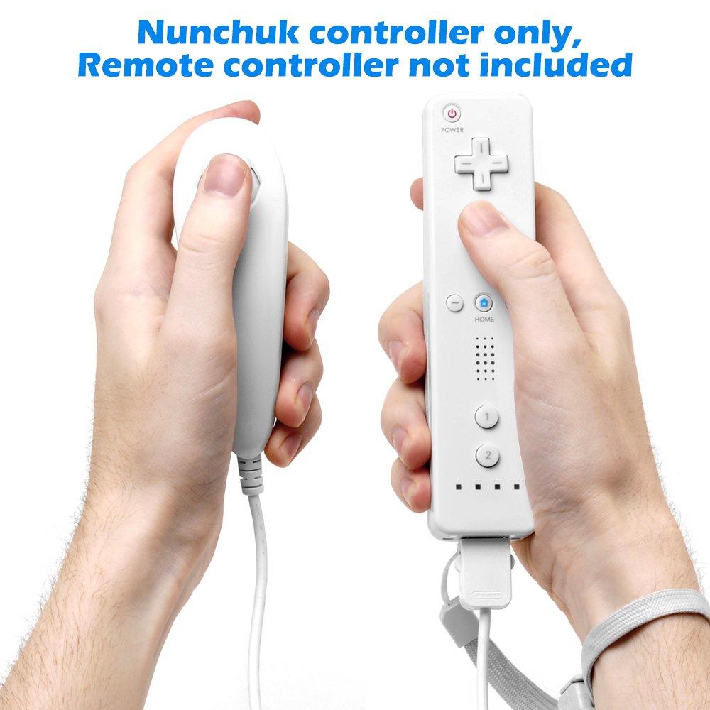 Nunchuck Controlador Gamepad para Nintendo Wii U, AFUNTA 2 Packs Reemplazo Mando para WII U Videojuego: Amazon.es: Electrónica