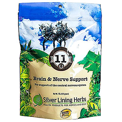 Silver Lining Herbs Brain And Nerve Support | Natural Herbal Support for Improving Horses Focus, Attention Span, and Behavior | Promotes Horse Good Mental Health| 1 Pound | Made in the USA by Silver Lining Herbs (Image #1)