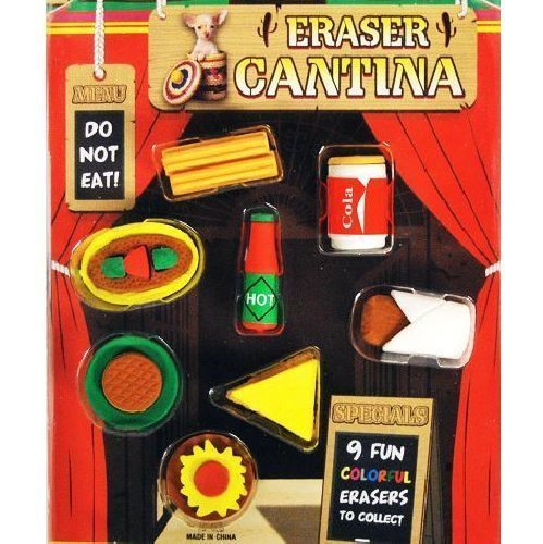 Collectable Eraser - FUN CANTINA MEXICAN FOOD ERASERS Set of 20 COLLECTIBLE PCS