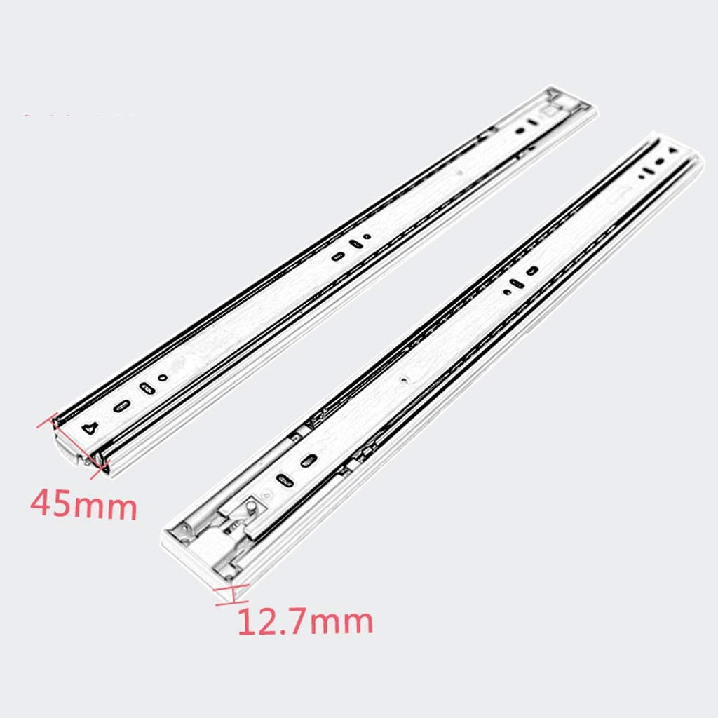 Pebegain Fully Extended Side-Mounted Ball Bearing Drawer Slides Easy to Install Three Drawer Track Thickened Steel Rails 100 LB Capacity Drawer Runner Slides