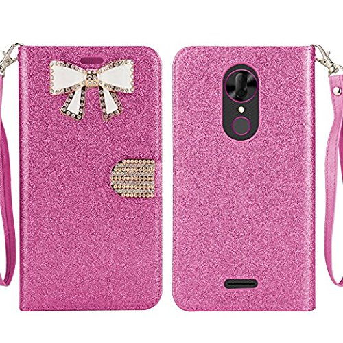 brand new a080e 71a3a T-mobile Revvl Plus Case, Coolpad Revvl Plus case, Butterfly Diamond  Rhinestone Bling Glitter Magnetic Closure Flip Wallet Case for Coolpad  Revvl plus ...