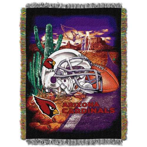 Officially Licensed NFL Arizona Cardinals Home Field Advantage Woven Tapestry Throw Blanket, 48