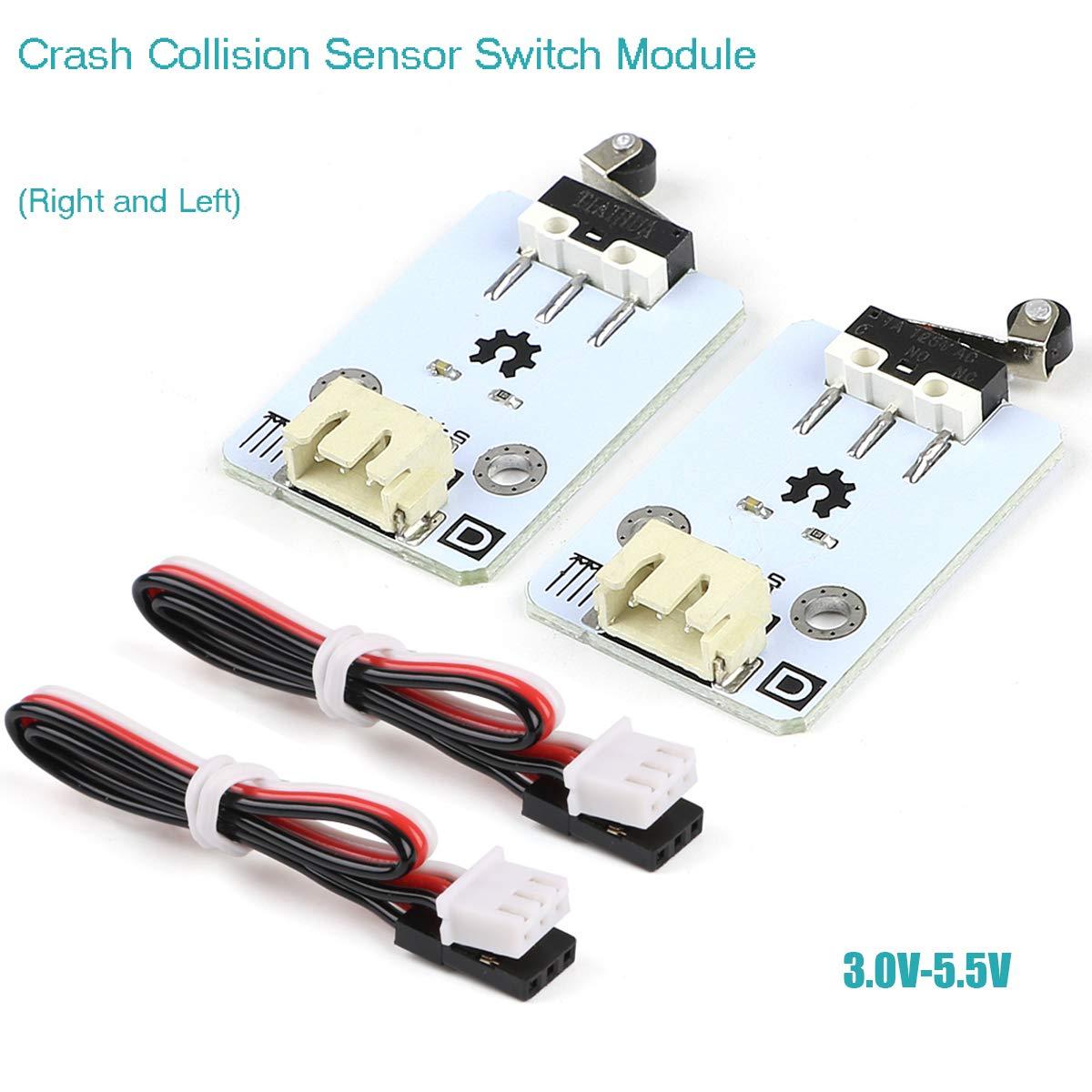 Destra e Sinistra Innovateking-EU 2pcs modulo Interruttore sensore collisione Crash Modello Robot sensore di Crash Elicottero per Arduino con Cavo sensore 2 Pin XH2.54 3 Pin