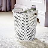 Home My Style Paper Bin, White, 32 x 28 x 28 cm