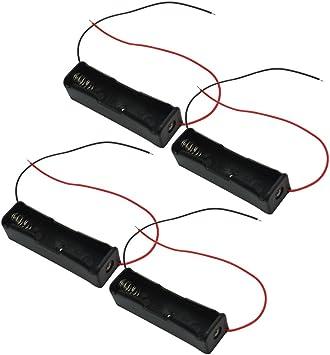 4X Plástico Caja Soporte Estuche Almacenaje 18650 Li-ion Batería Pila Nuevo: Amazon.es: Electrónica