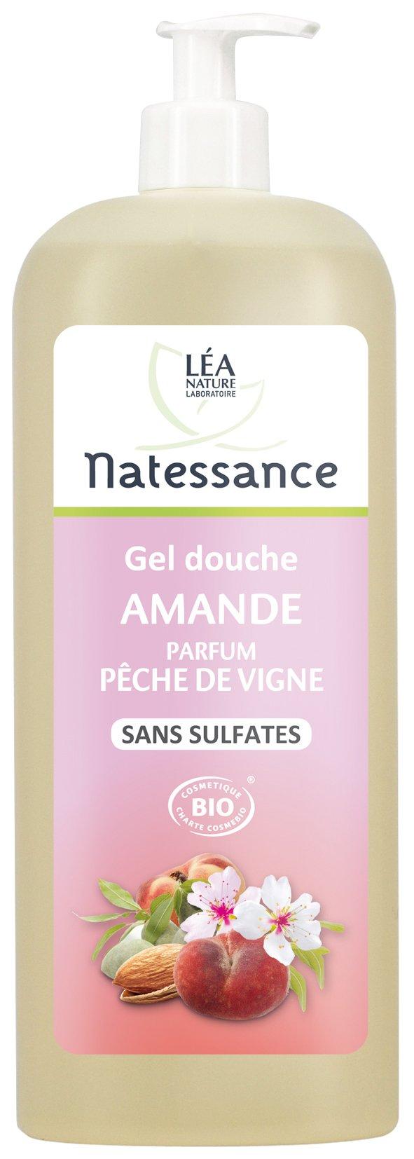 Natessance Hygiène Douche Crème Amande Parfum Pêche de Vigne sans Sulfates 1 L product image