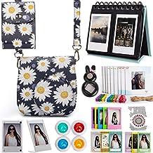 Woodmin Daisy 12-in-1 Fujifilm Instax Accessories Bundle for Fuji Instant Mini 8 8+ Mini 9 Camera (Camera case/photo bag/Albums/Frames/Stickers/Filters/Selfi-Lens)