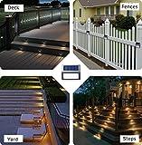 [Warm Light] Solar Lights for Steps Decks Pathway