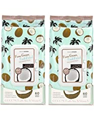 Beauty Concepts - 2 Pack (60 Count Per Pack) Coconut Facial Cleansing Wipes with Aloe and Vitamin C
