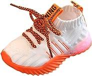 Wulofs Sneakers Toddler Kids Shoes Running Baby Girls Boys Mesh LED Light Luminous Sport Shoes