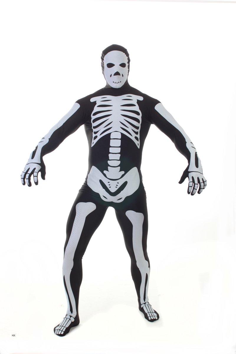 Morphsuits MPSB2 - Skelett Kostüm, schwarz