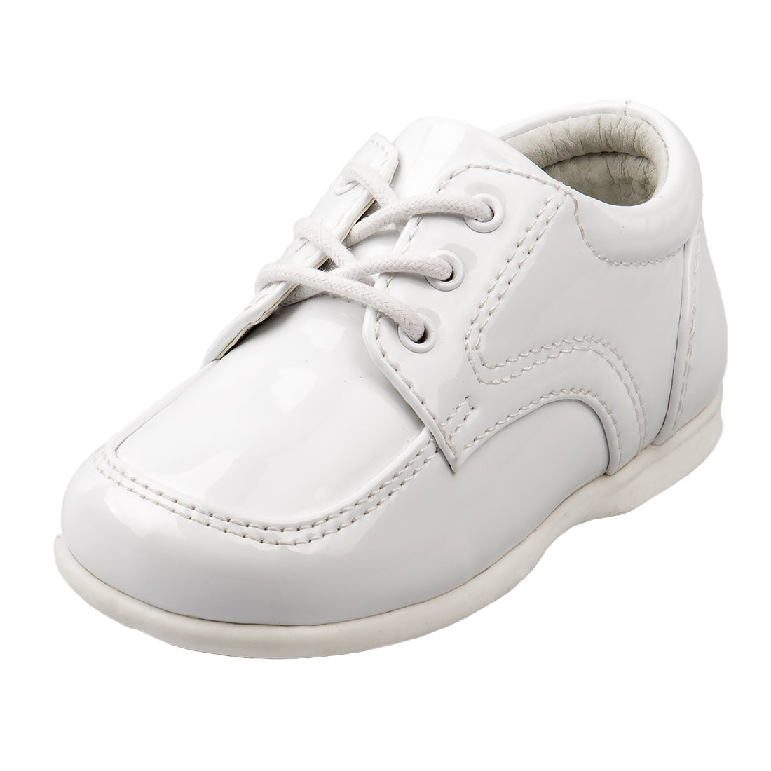 1c7dc4cdabd53 Josmo Baby Boy's First Steps Walking Dress Shoe, White Patent, 6 M ...