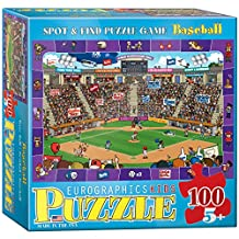 Eurographics Baseball-Spot and Find 100-Piece Puzzle