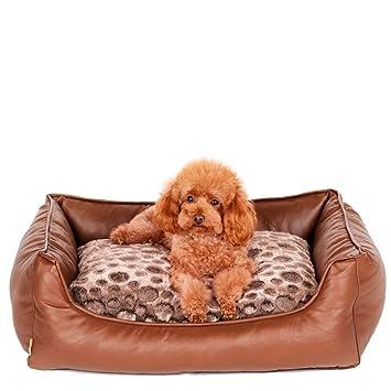 STAZSX Mascota lavable estera de la perrera de verano pequeño perro medio oso de peluche perrera gato cama litera sofá cama, 75 CM: Amazon.es: Productos ...