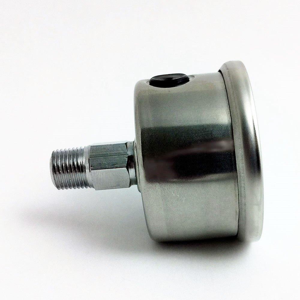 Marshall Instruments LS00100 Liquid Filled Fuel Pressure Gauge Silver by Marshall Instruments