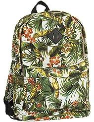 Big Handbag Shop Unisex Zip Pockets Colourful Lightweight Large Travel School Backpack Bag