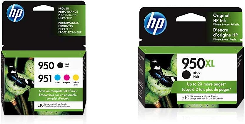 HP 950 & 951 | 4 Ink Cartridges | Black, Cyan, Magenta, Yellow | CN049AN, CN050AN, CN051AN, CN052AN & 950XL | Ink Cartridge | Black | CN045AN