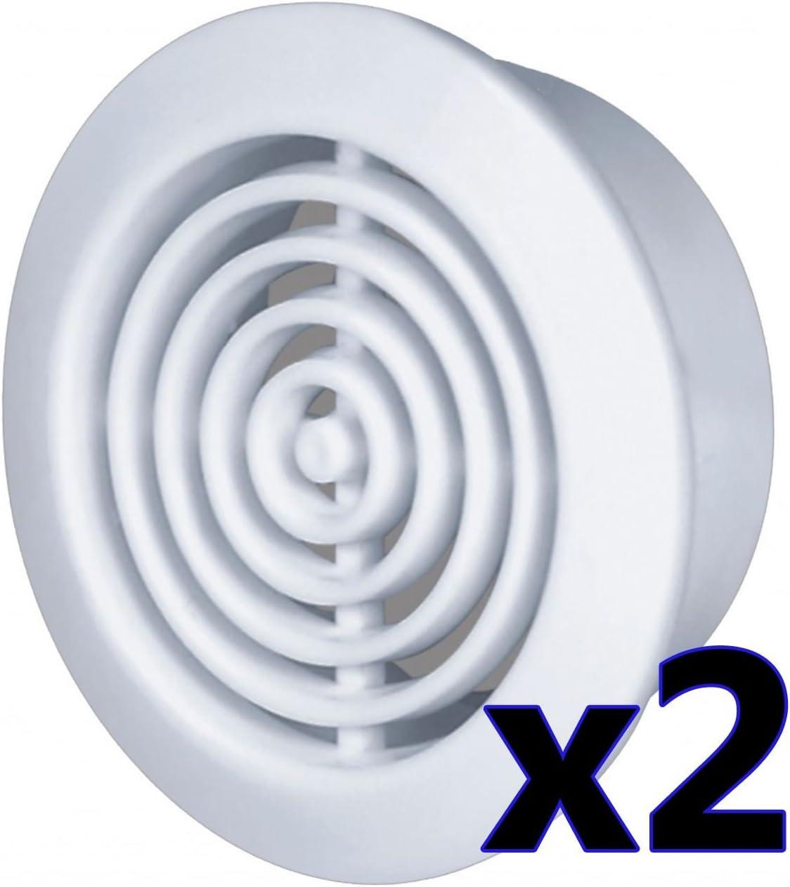 Zasiene Grille Aeration Ronde 25 Pi/èces Grille Ventilation Acier Inoxydable Grille Da/ération Trou Grille de Ventilation Inox,35mm