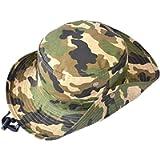 Sun Hat Bucket-Boys-Camouflage Hats Fishman Cap Packable
