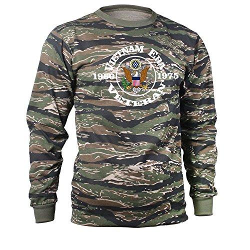 Vietnam Era Veteran Tiger Stripe Long Sleeve Shirt (XX-Large, Tiger Stripe Camo) (Vietnam Veterans Stripe)