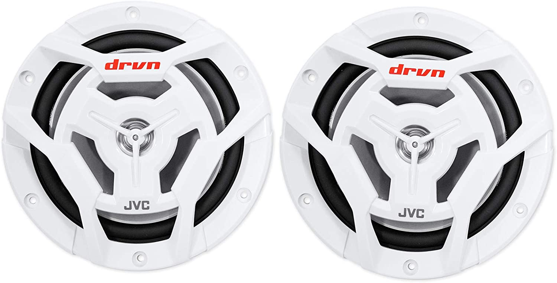 2 Rockville RGHR2 Marine Gauge Bluetooth USB Receiver+Remote+ JVC 6.5 Speakers