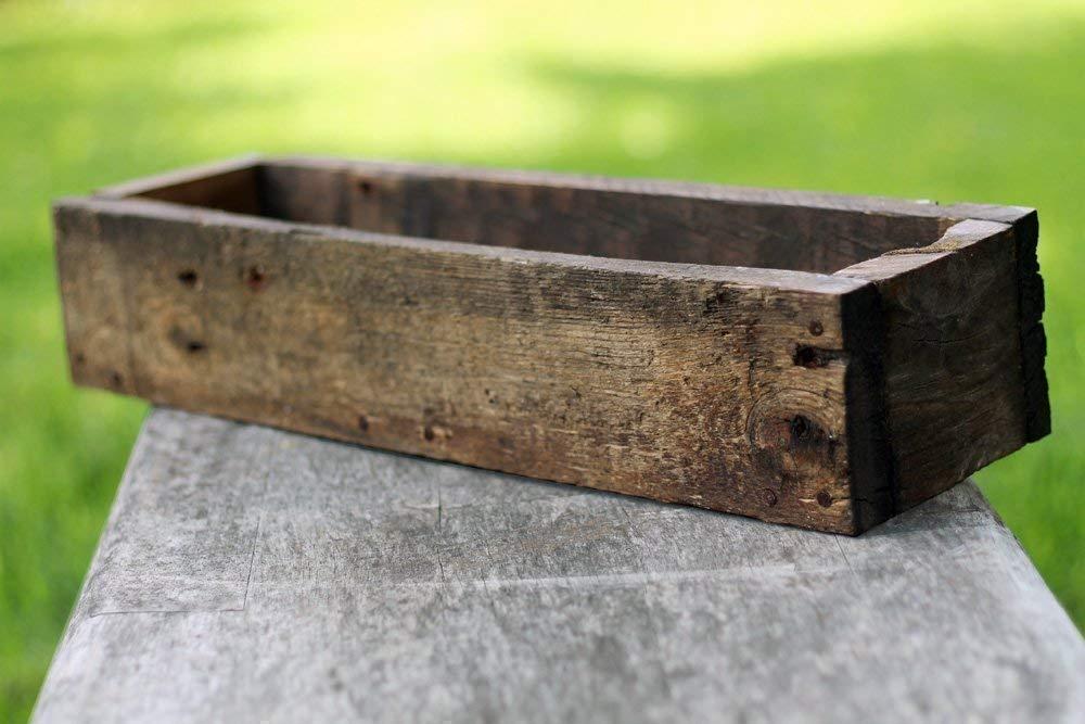 18'' Rustic Planters Box (3.25-3.75''T - Short Version)