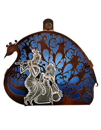 Buy Radha Krishna Silver 92 5 Episode Wall Hanging - 53218 Online at