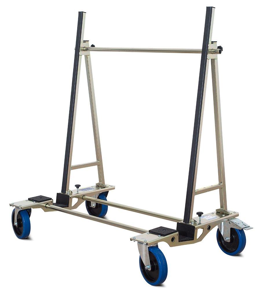 Tsl 500 Cristal carro, carrito de transporte, transporte ayuda hasta 500 kg de carga para discos de cristal, placas de madera o planchas de piedra: ...