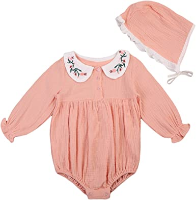BiggerStore Infant Baby Girl Twins Long Sleeve Ruffles Romper Bodysuit Outfit Clothes
