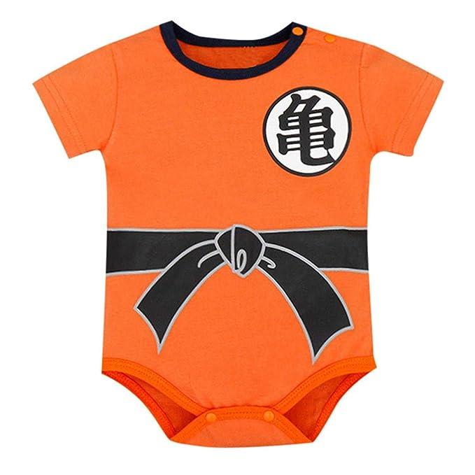 de7adf79361b3 KONFA Toddler Kids Infant Baby Boys Girls Dragon Ball Goku Costume Set  Short Sleeve Romper Bodysuit Jumpsuit Outfit Blue