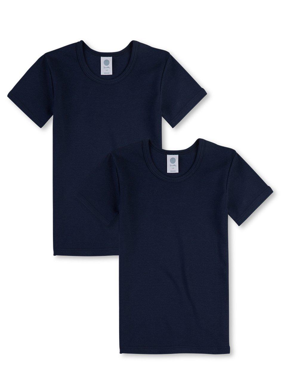Sanetta Jungen T-Shirt Halbarm im Doppelpack aus Bio-Baumwolle - Made in Europe