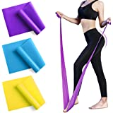 Resistance Bands Set, 3 Pack Professional Natural Latex Elastic Exercise Bands with 3 Resistance Levels, Exercise Bands for H