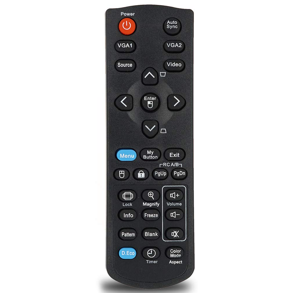 INTECHING Projector Remote Control for ViewSonic PJD5126, PJD5132, PJD5134, PJD5226W, PJD5232L, PJD5234L, PJD5533W, PJD6223, PJD6235, PJD6245, PJD6353, PJD6543W, PJD6653W, PJD7820HD, PJD7822HDL by INTECHING