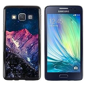 Be Good Phone Accessory // Dura Cáscara cubierta Protectora Caso Carcasa Funda de Protección para Samsung Galaxy A3 SM-A300 // Night Purple Sunset Mountain Sky Universe