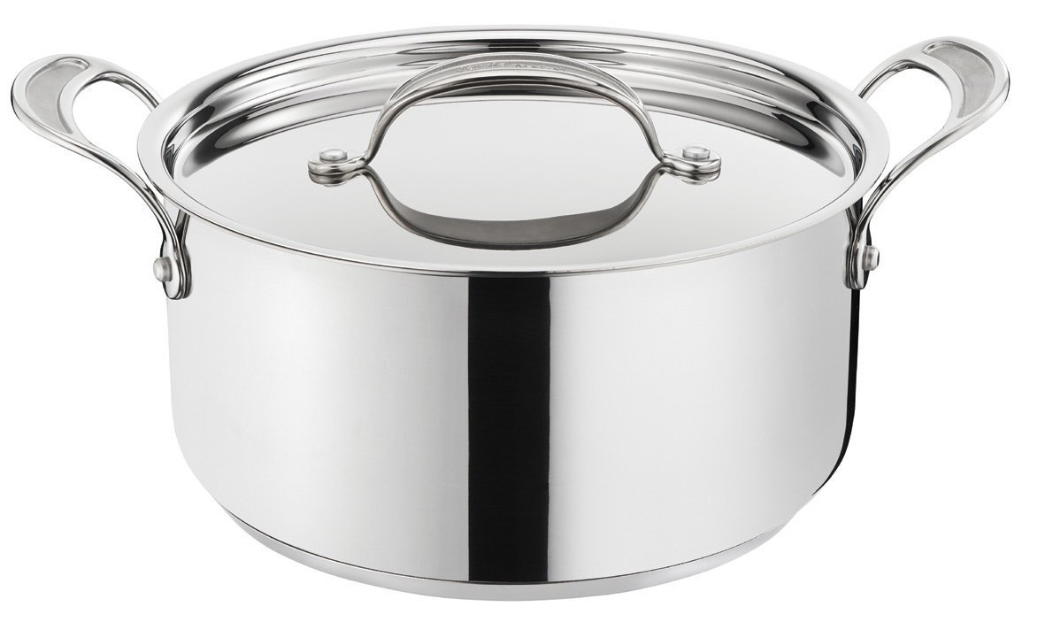 Tefal Jamie Oliver Professional Stainless Steel 24cm Induction Stockpot with Lid