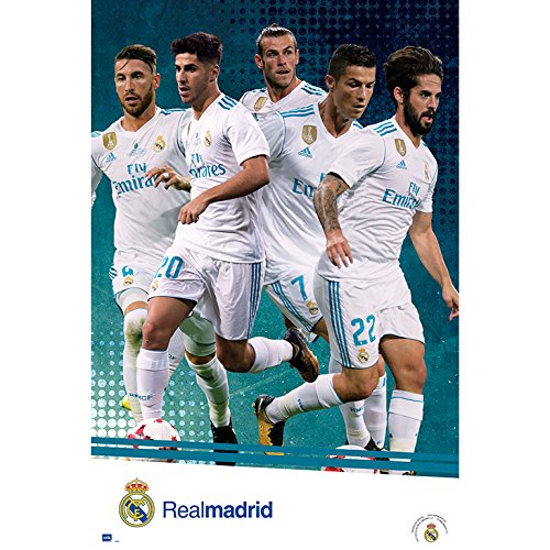 Grupo Erik editores gpe5180 – Poster 2017/2018 with Real Madrid Design, 61 cm x 91.5 cm by Grupo Erik Editores (Image #1)