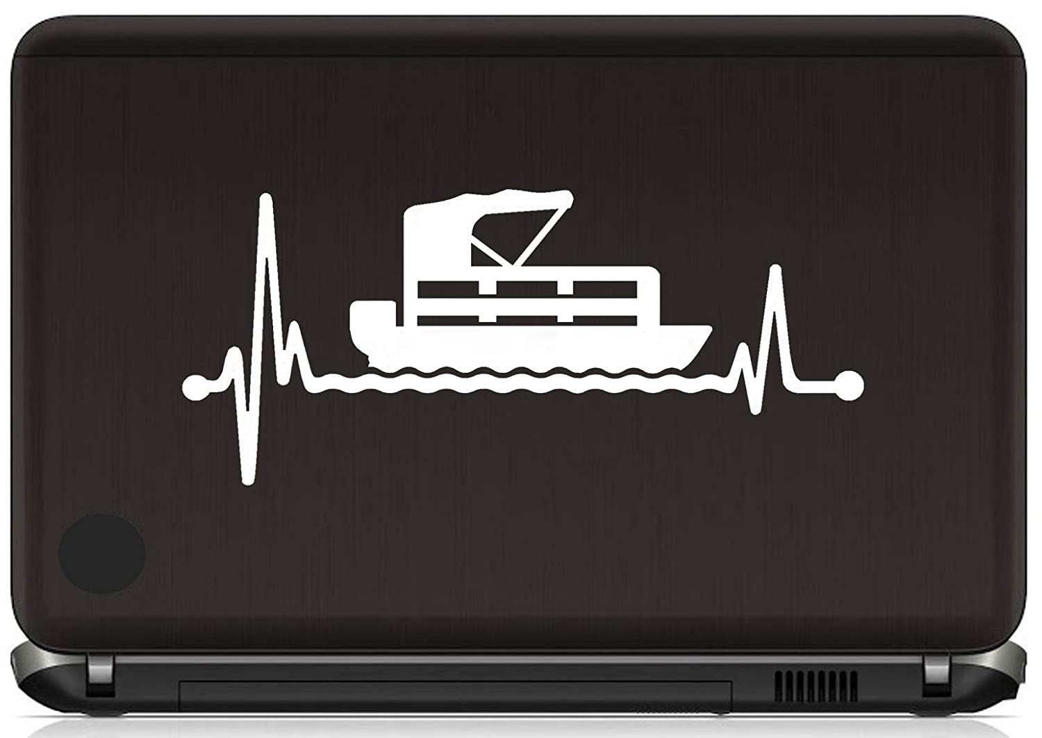 Pontoon Heartbeat Lifeline Decal Sticker Lake Boating Accessories Party Barge Boat BG 526