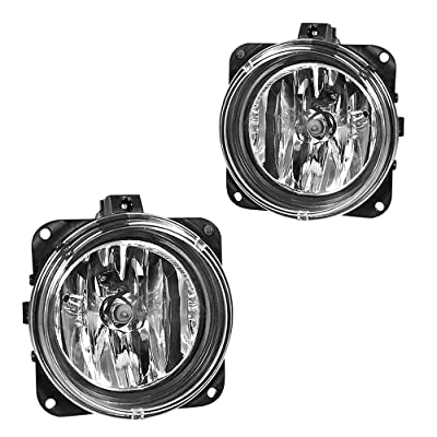 Driving Fog Lights Lamps Replacement for 05-06 Ford Escape, 03-04 Ford Mustang Cobra (SVT Model Only), 02-04 Ford Focus SVT, 2002 Lincoln LS with H10 12V 42W Halogen Bulbs (Clear Lens): Automotive