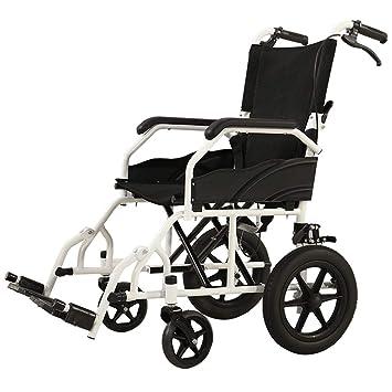Silla de Ruedas Plegable Silla de Ruedas Liviana Ultralight Carretilla portátil para discapacitados Silla de Ruedas Multiuso de Edad Avanzada: Amazon.es: ...