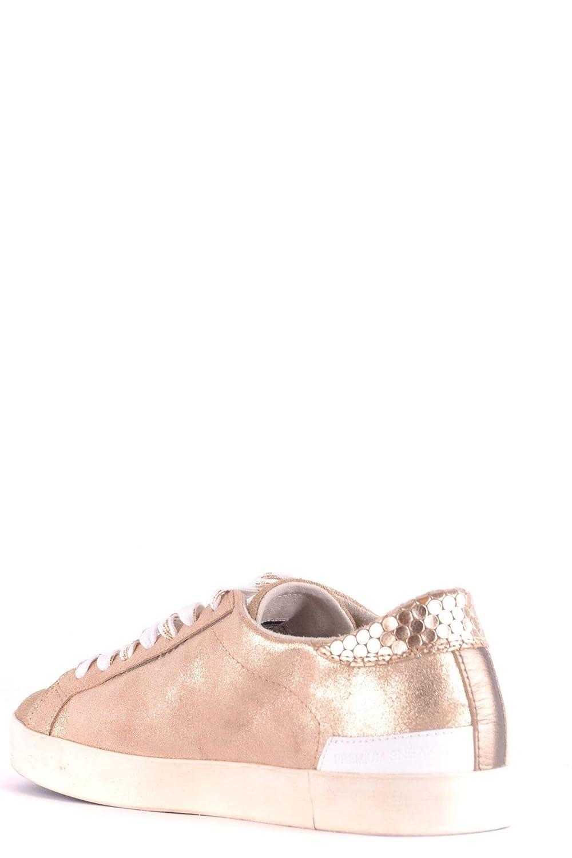 D.a.t.e. Damen Damen Damen MCBI35564 Gold Leder Turnschuhe 624c75