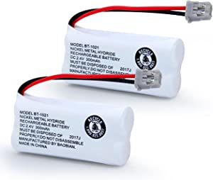 BAOBIAN BT-1021 BBTG0798001 Rechargeable Battery Replacement Compatible with Uniden Cordless Handset Telephones Model BT1021 BT-1008 BT-1016 2.4V Ni-MH 2 Pack