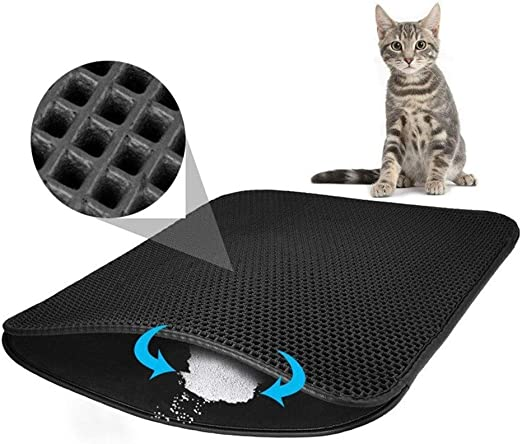 HUDNNFO Antideslizante Arena for Gatos Bandeja Mat, Mat Pet Food ...