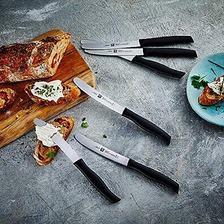 Zwilling Twin Grip Brotzeitmesser Set 6 tlg. Cuchillo, Acero Inoxidable, Negro, 23 x 2 x 1 cm, 6 Unidades